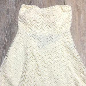 Windsor cream strapless dress size S